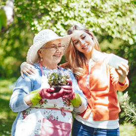 photo of a senior woman and granddaughter | Flournoy Wealth Management